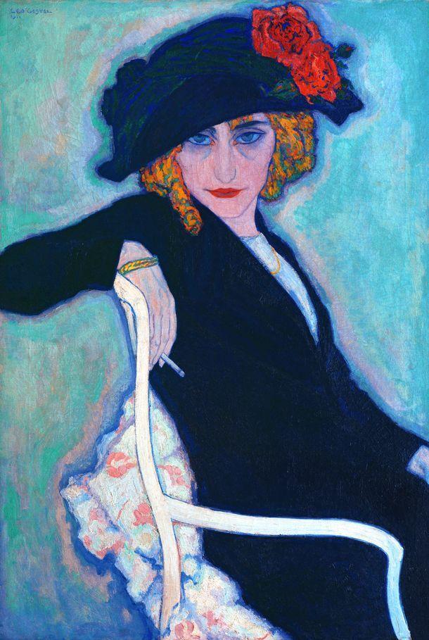 Vrouw met sigaret, 1911, olieverf op doek, 90 x 63 cm, particuliere collectie.