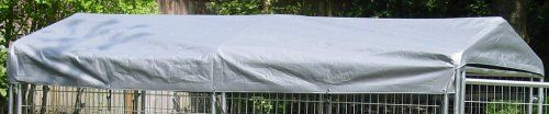 This rugged kennel cover adds a protective barrier between the pet-companion and the outdoor elements. This features a easy to assemble Quick Connect roof structure complete with an all-weather cover for the ultimate in outdoor protection against sun, snow and rain.   The kennel cover is made with after weld galvanizing using a process in which the complete panel is galvanized after the welding process providing years of protection.  Comes with waterproof UV protective 3- layer polyethylene…