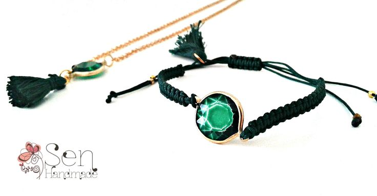 handmade necklace and bracelet