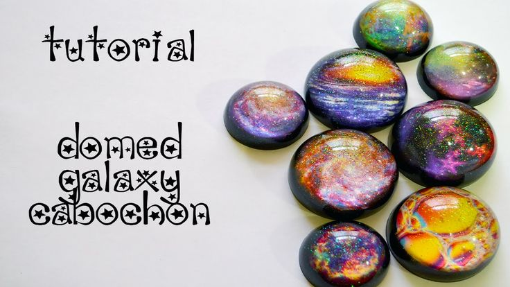 Resin Galaxy Domed Cabochon. Hi all! In this requested video, we will learn how to create domed resin cabochons using actual Hubble Telescope pictures and iridescent glitter. The mold I used is from LIttle Windows and is a WONDERFUL mold (no, Im not paid for using/commenting/etc...its just my personal opinion).