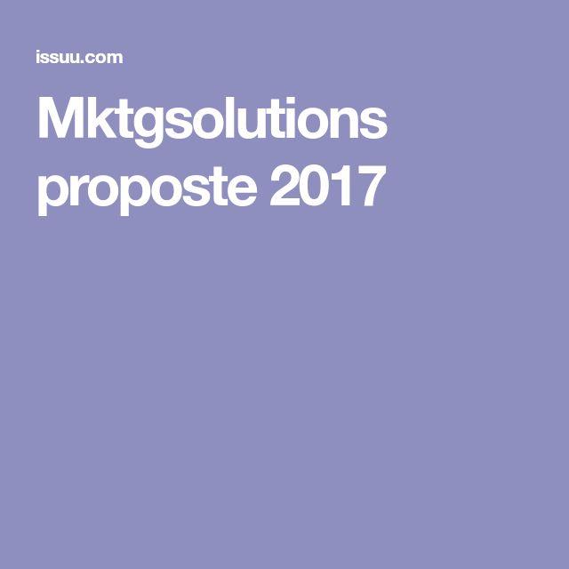 Mktgsolutions proposte 2017