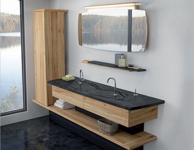 Vanité Origine - Vanico Maronyx  http://www.doraco-noiseux.com/salle-de-bain/vanites/