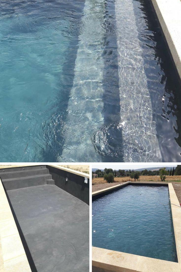 Rev tement de piscine en b ton cir en 2019 piscines - Revetement ideal pourtour de piscine ...