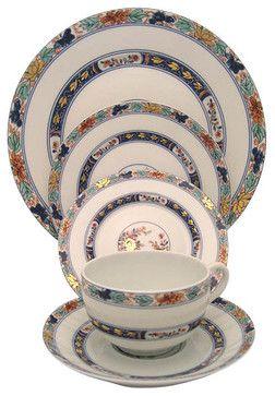 Raynaud Koutani 5-Piece Place Setting - transitional - Dinnerware Sets - Fine Brand Sales