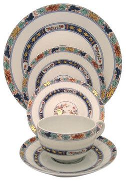 Raynaud Koutani 5-Piece Place Setting - transitional - Dinnerware Sets - Fine Brand Sales