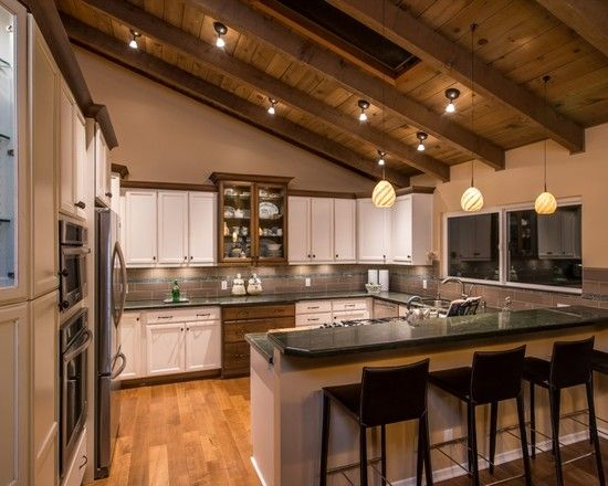 Ambelish 18 Kitchen With Slanted Ceiling On Mid Sized Slanted Ceiling U Shaped Kitchen Design Ideas, Remodels