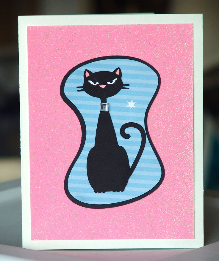 Looks like my Pitty Pat. Cricut card made with Nifty