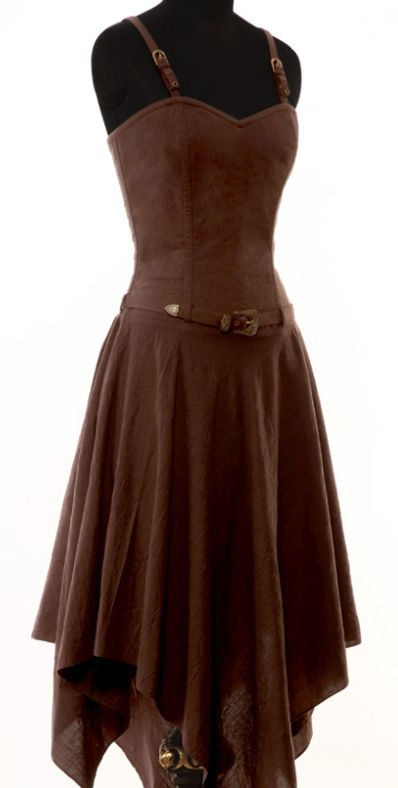 This beautiful dress is a great base for a steampunk outfit or just to wear in the summer. The strap can also be removed and the dress can be worn with a gorgeous steampunk corset.