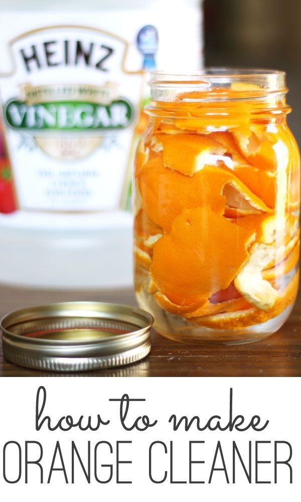 A natural DIY orange cleaner recipe - make your own cleaner for pennies per bottle!