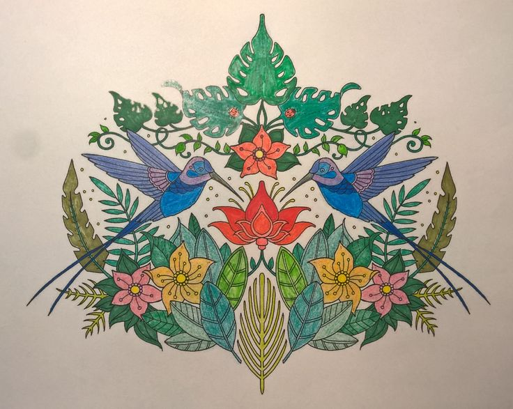 Magical Jungle by Johanna Basford   #johannabasford #magicaljungle #colouringbooks #colouringforadults #adultcolouring #adultcoloring #stressfree #relaxing #blending
