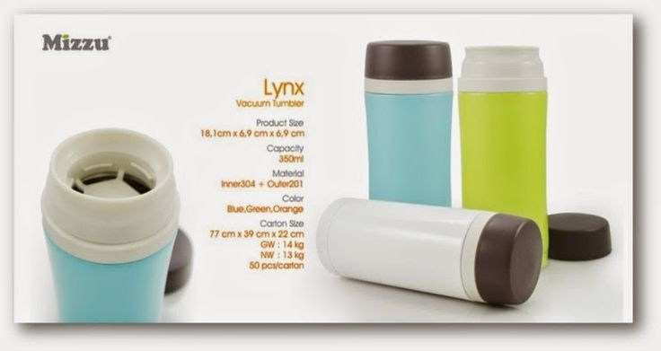 Lynx, Size: 18.1 x 6.9 x 6.9cm Capacity 350ml. Color: Blue, Green, Orange Instilled a philosophy of simplicity in design, but still has a high functionality. The water flask is an innovative idea for picnics, parties and camping, portable, practical, safe and lid rotates 360 °.