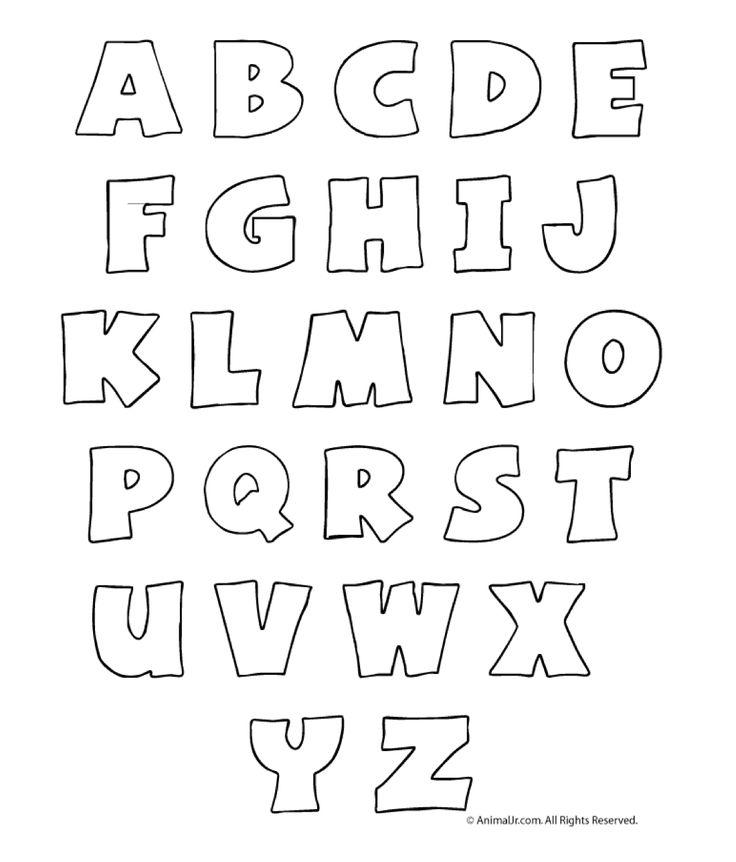Plantillas de letras para fieltro - Imagui
