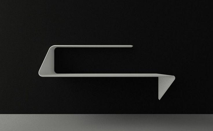 modern minimalist shelf and desk combination