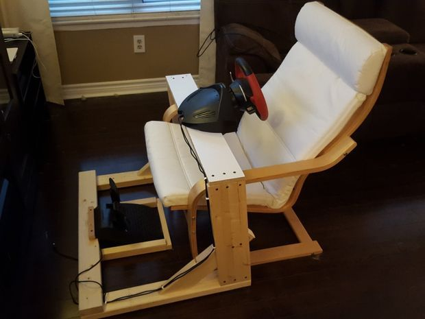 Diy Steering Wheel Stand Diy Chair Gaming Chair