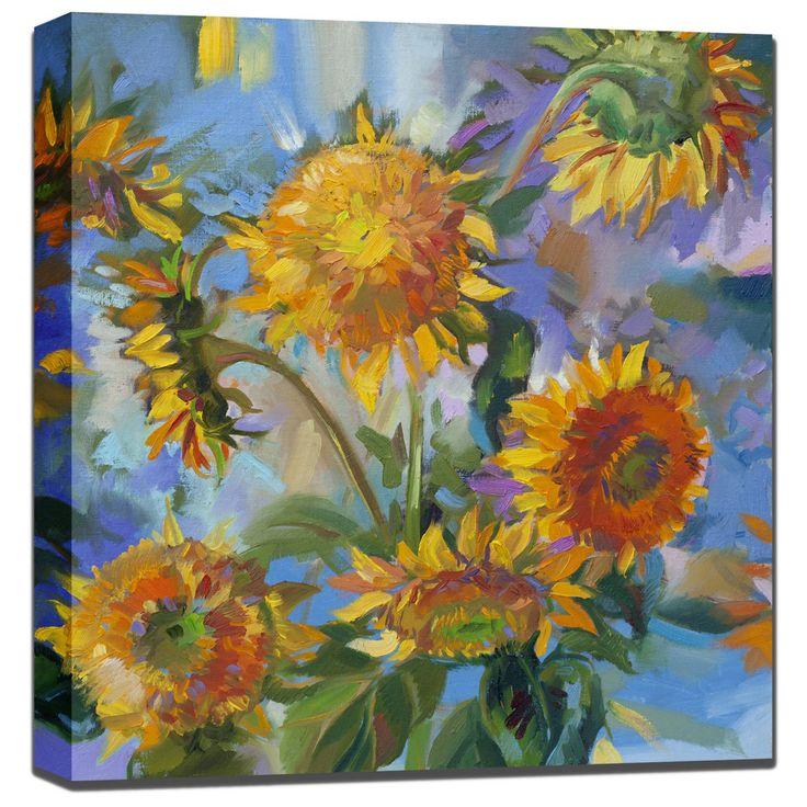 West of the Wind Sunflower Modern Outdoor Wall Art - 80810-24 (SUNFLOWER MODERN)