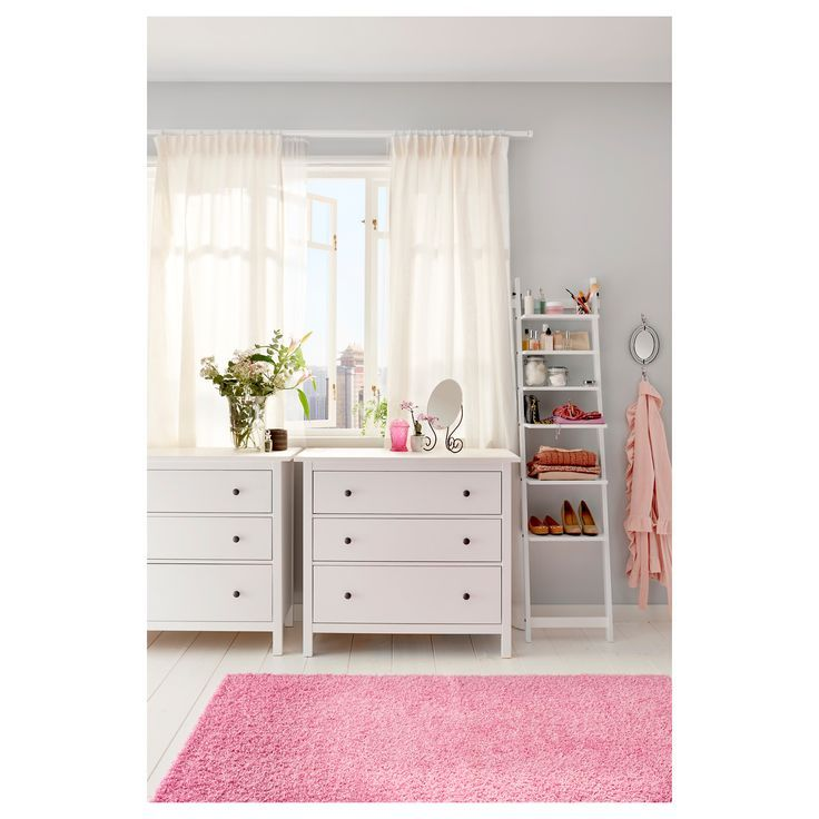 Ikea Hemnes 3 Drawer Chest White Stain Drawers And