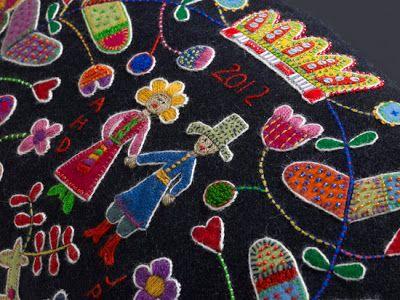 Hej Tjorven: Brodera på ylle - Borduren op wol