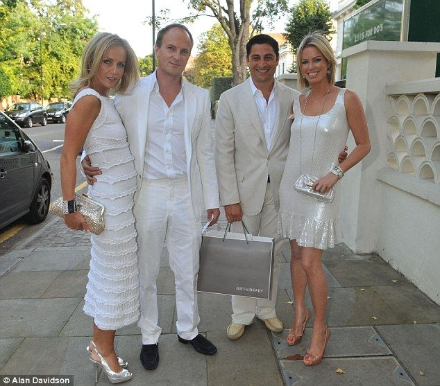 I hear that Nicholas Johnston (second from left) has left his blonde wife, Linda, 48, (lef...