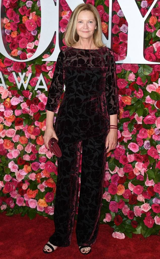 Joan Allen from Tony Awards 2018: Red Carpet Fashion The actress wears a  floral romper to the award show. | Red carpet fashion, Tony awards, Fashion