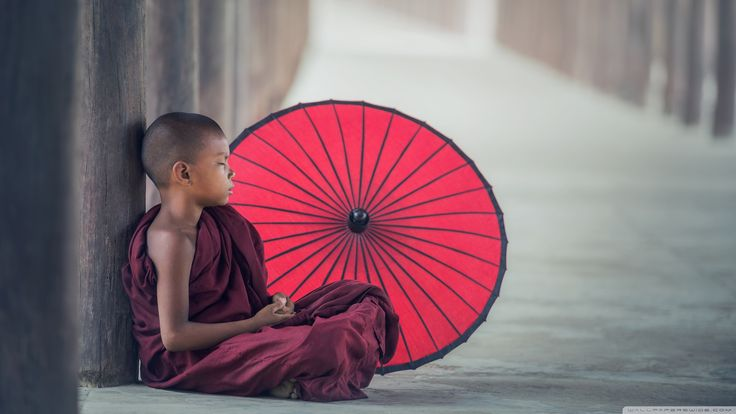 Young Buddhist Monk Meditating ❤ UHD desktop wallpaper for Ultra ...