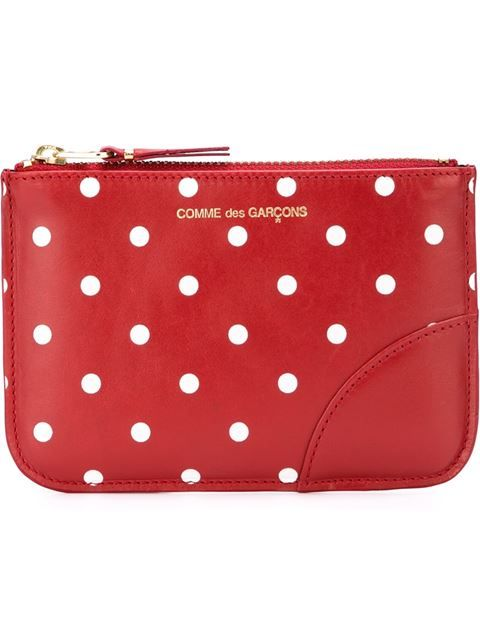 Shop Comme Des Garçons Wallet polka dot zip wallet in Nugnes 1920 from the world's best independent boutiques at farfetch.com. Shop 300 boutiques at one address.