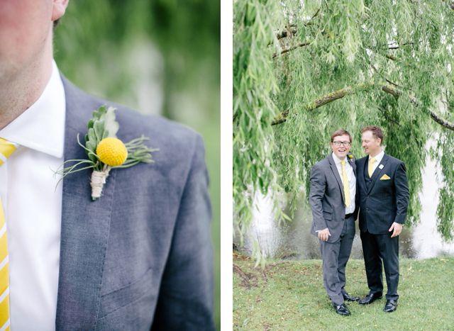 Colin + Clem Briars bowral wedding yellow wedding flowers