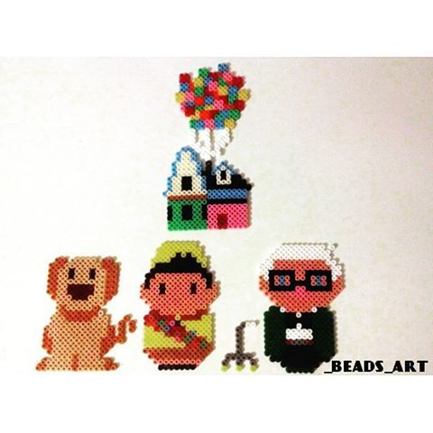 Up movie characters perler beads by _beads_art