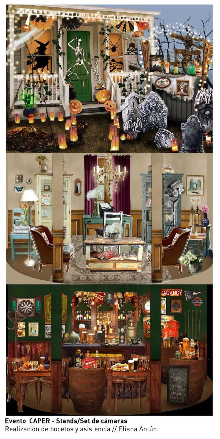 Bocetos para ambientación de sets / CAPER 2014