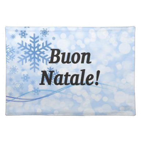 Buon Natale! Merry Christmas in Italian bf Cloth Place Mat