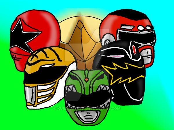Tommy Oliver's Power Helmets throughout the series' -Jason David Frank expressed a liking for then picture when I sent it to him