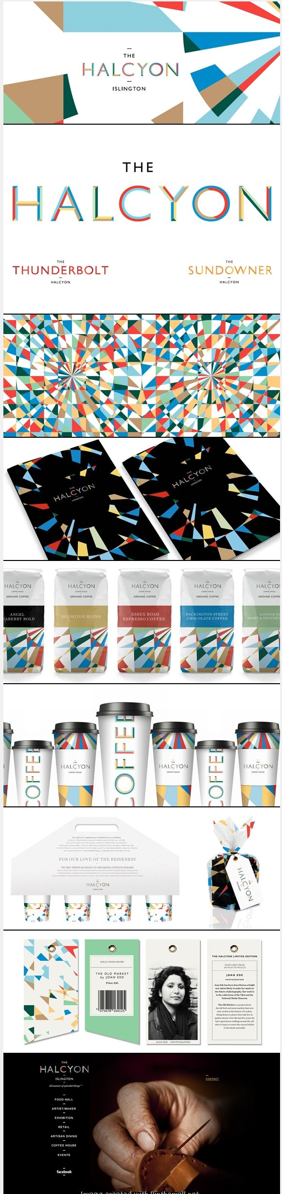 Halcyon branding and packaging