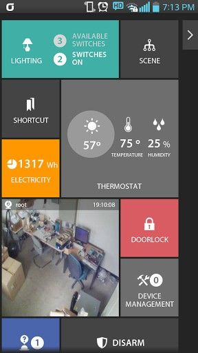 Enblink android app - (Google TV + Lighting plugin) - dashboard/home screen