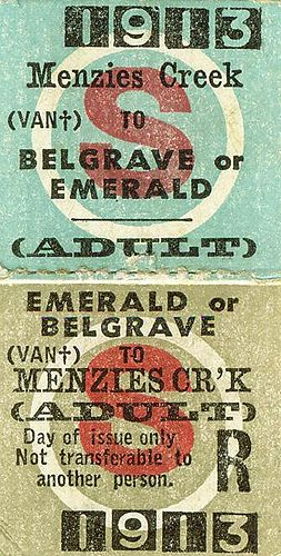 1913 Puffing Billy Train Ticket0001 by Laineys Repertoire, via Flickr