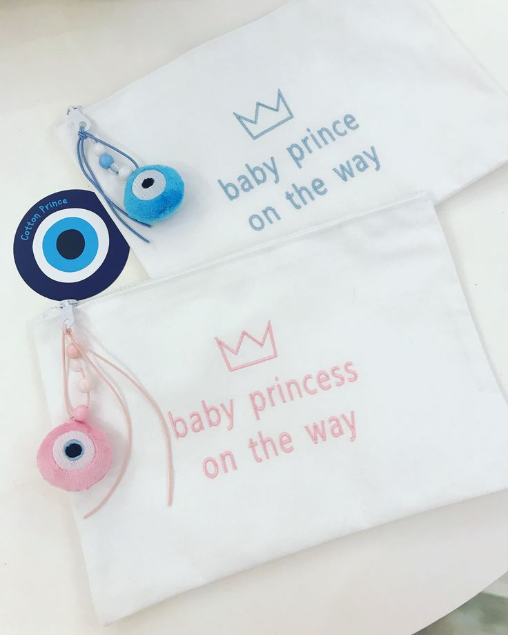 Baby Shower evileye favors for twins! Handmade by Cotton Prince