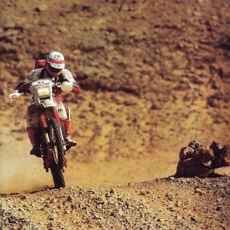 Gianpiero Findanno, Yamaha XT 600 Tenere, Dakar Rally 1985.