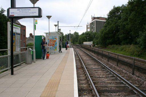Croydon Tramlink tram stop at Beckenham Road