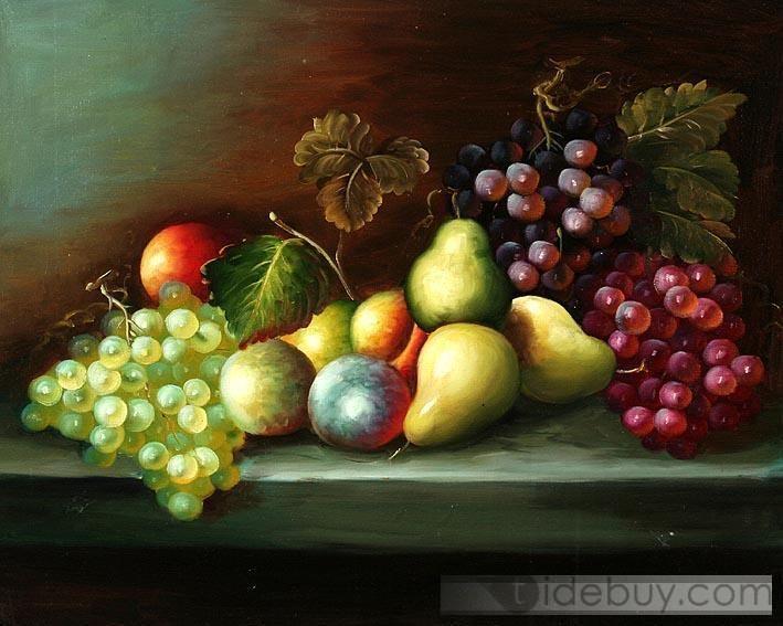 Still Life Fruit Paintings | Classic Fruit Still Life oil painting : Tidebuy.com