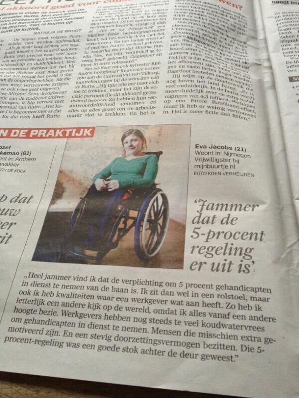 Kort interview met mij in het AD (Algemeen Dagblad)