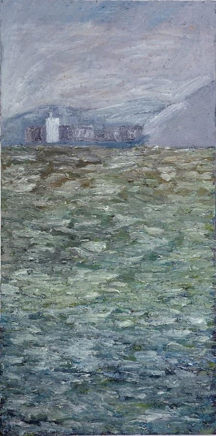 Dirty Day, Sorrento, 2008  Artist: Julian Twigg  Medium: Oil on board  Dimensions: 120 x 60 cm