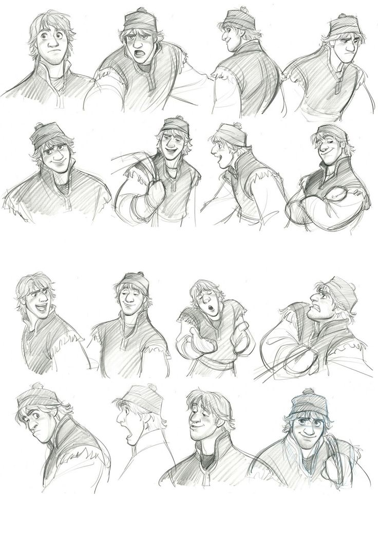Kristoff expressions by Jin Kim | The Concept Art Blog