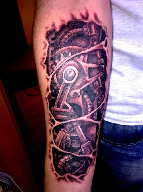 Pin Robot Mechanical Arm Tattoo Page 5 on Pinterest