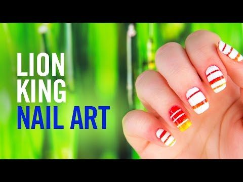 Lion King Nail Art Tutorial | Disney Style - YouTube