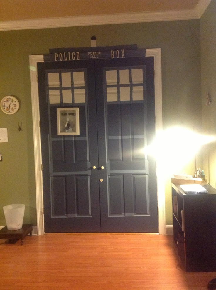When I Get Older, I Am Painting My Closet Like That. I Donu0027t Care If My  Husband Hates Dr Who. If I Have 1