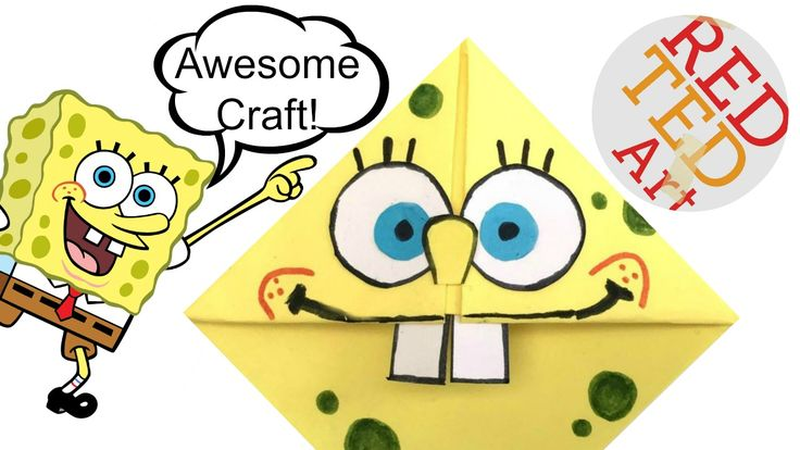 This is a fun and EASY Spongebob Crafts idea. Make your very own Spongebob Corner Bookmark. It is quick and easy and great fun.