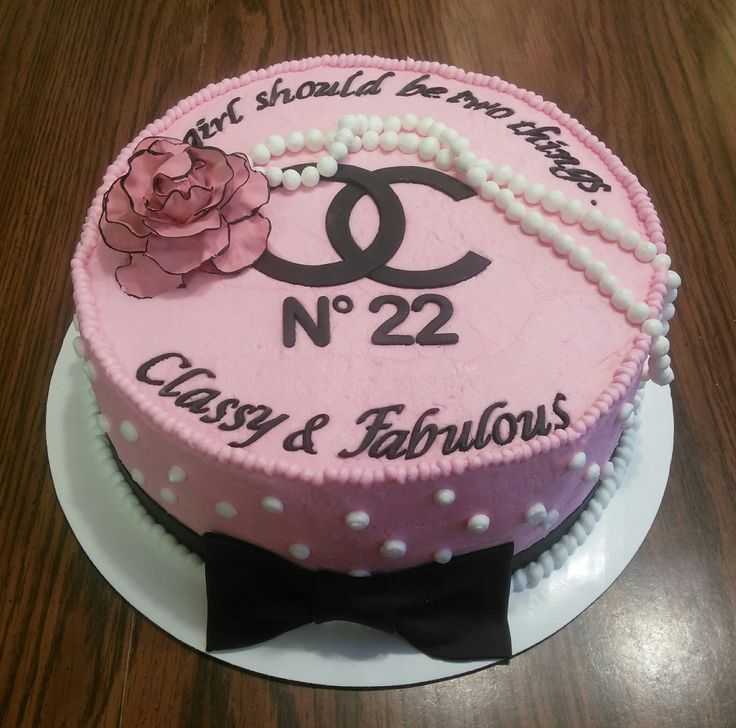 25 Best Ideas About Chanel Birthday Cake On Pinterest