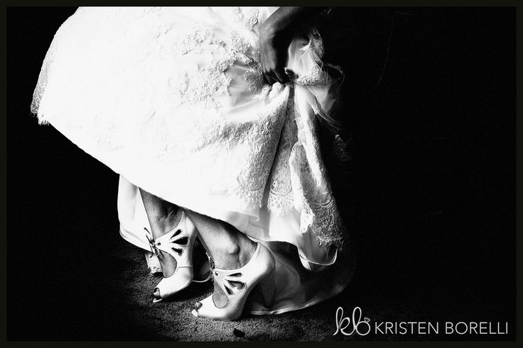 lace wedding dress with cream high heels. (Kristen Borelli Photography, Durham Region Wedding Photography, Ganaraska Forest Weddings, Vancouver Island Wedding Photographer, Victoria Wedding Photographer, Clarington Wedding Photographer)