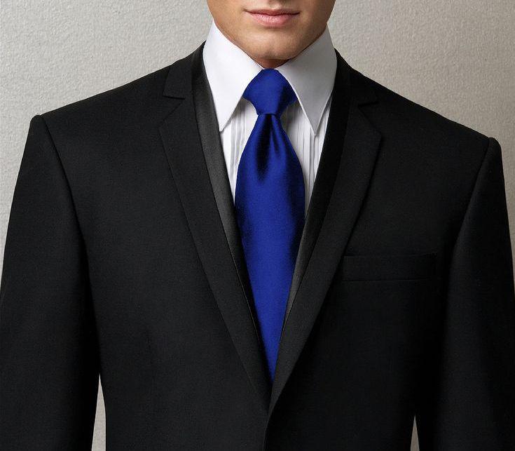 black suit and blue tie - photo #7