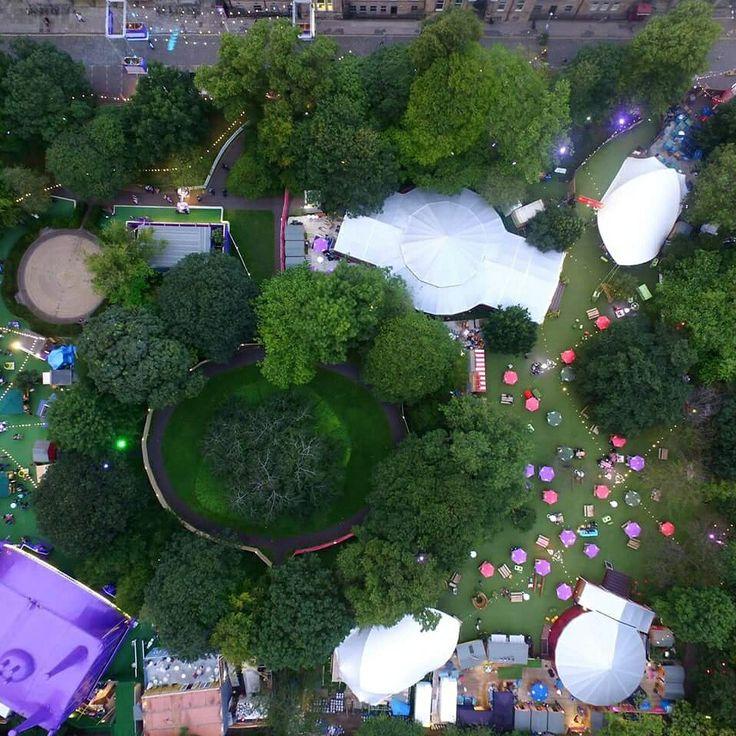 A fantastic aerial view of last year's Edinburgh Festival 2016 covered in artificial grass.  #ArtificialTurfScotland #artificial #fakegrass #artificialgrass #astroturf #grass #syntheticgrass #syntheticturf #garden #landscape #gardening #scotlandUK