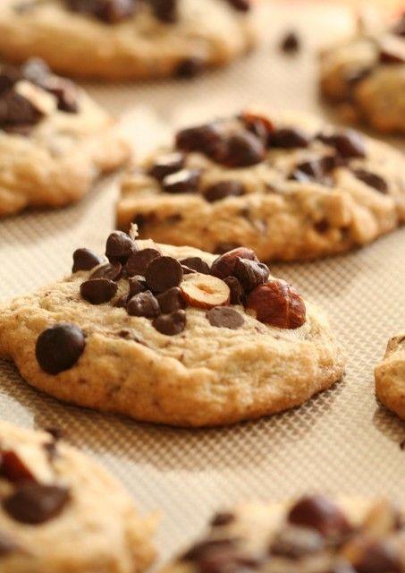 El tenedor rosa: Cookies de chocolate y avellanas