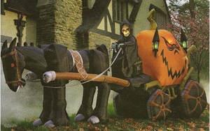 11.6' Long Inflatable Reaper Pumpkin Halloween Outdoor Decoration